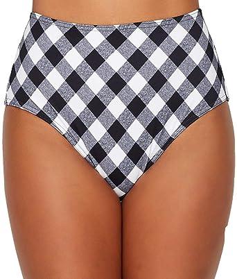 87a1b1fb32974 Amazon.com: Freya Totally Check High-Waist Bikini Bottom: Clothing