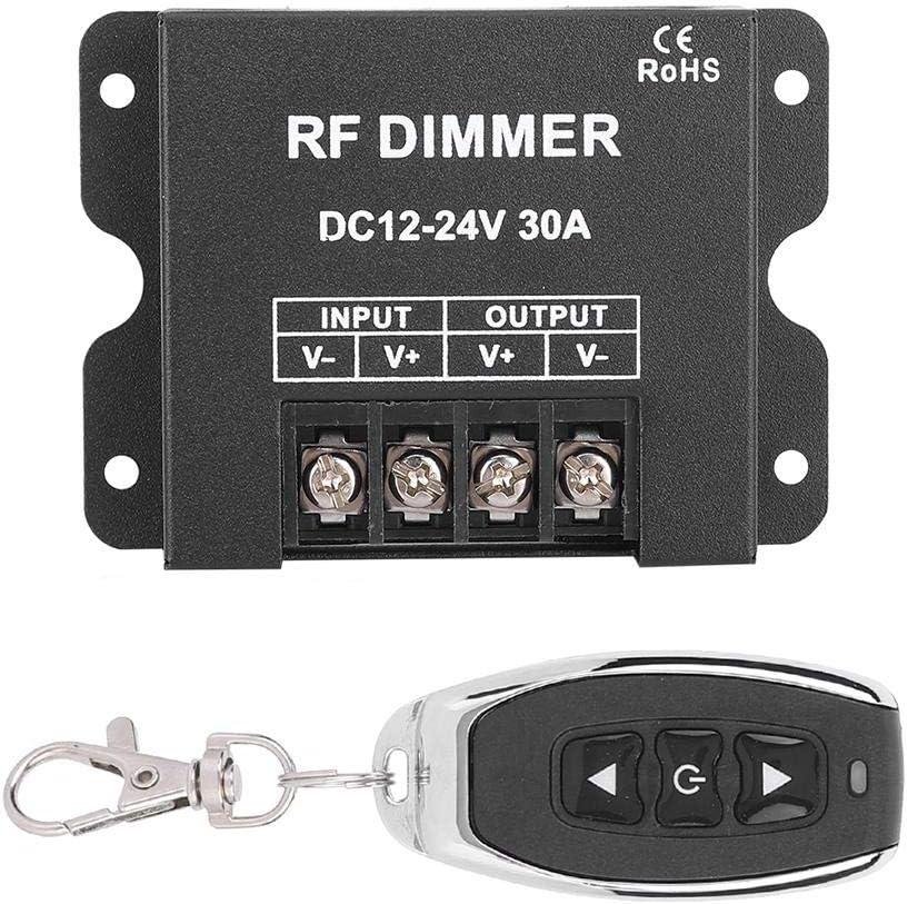1 x RF LED Dimmer Wireless Brightness 3 Keys Remote Controller DC 12V 24V 30A
