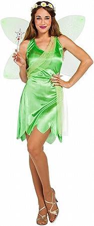 Disfraz de Hada Campanilla Verde para mujer: Amazon.es ...