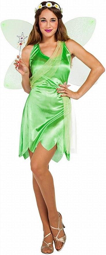 Disfraz de Hada Campanilla Verde para mujer: Amazon.es: Juguetes y ...
