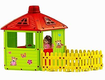 Kenytoys Spielhaus Kinderspielhaus Xxl Mit Terrasse Fur Drinnen Und