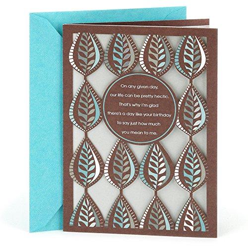 Hallmark Birthday Greeting Card to Husband (Leaf Pattern) - Birthday Greeting Card For Him