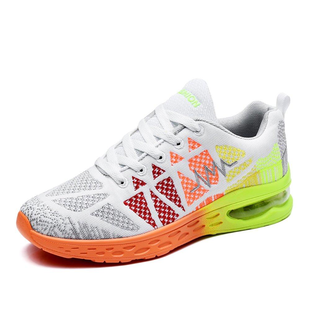 BUJINGYUN BJYUN New Men's Sport Shoes Men's Casual Sneakers Cushion Shoes Men's Trend Running Shoes B073MHPMXC Men 8(M)US 41EU White&orange
