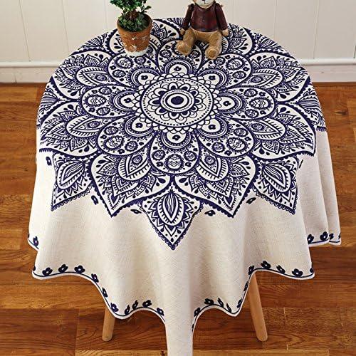 QIQI Mantel Qi, manteles de Lino y algodón, manteles rectangulares de Lino, Lino algodón, G, 110 x 110 cm: Amazon.es: Hogar