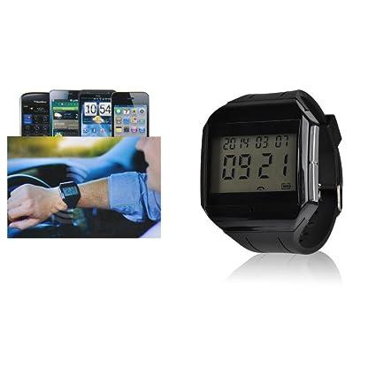 VicTsing® X-Boss digital LCD reloj pulsera Bluetooth con micrófono y altavoz, llamada entrante alerta ...
