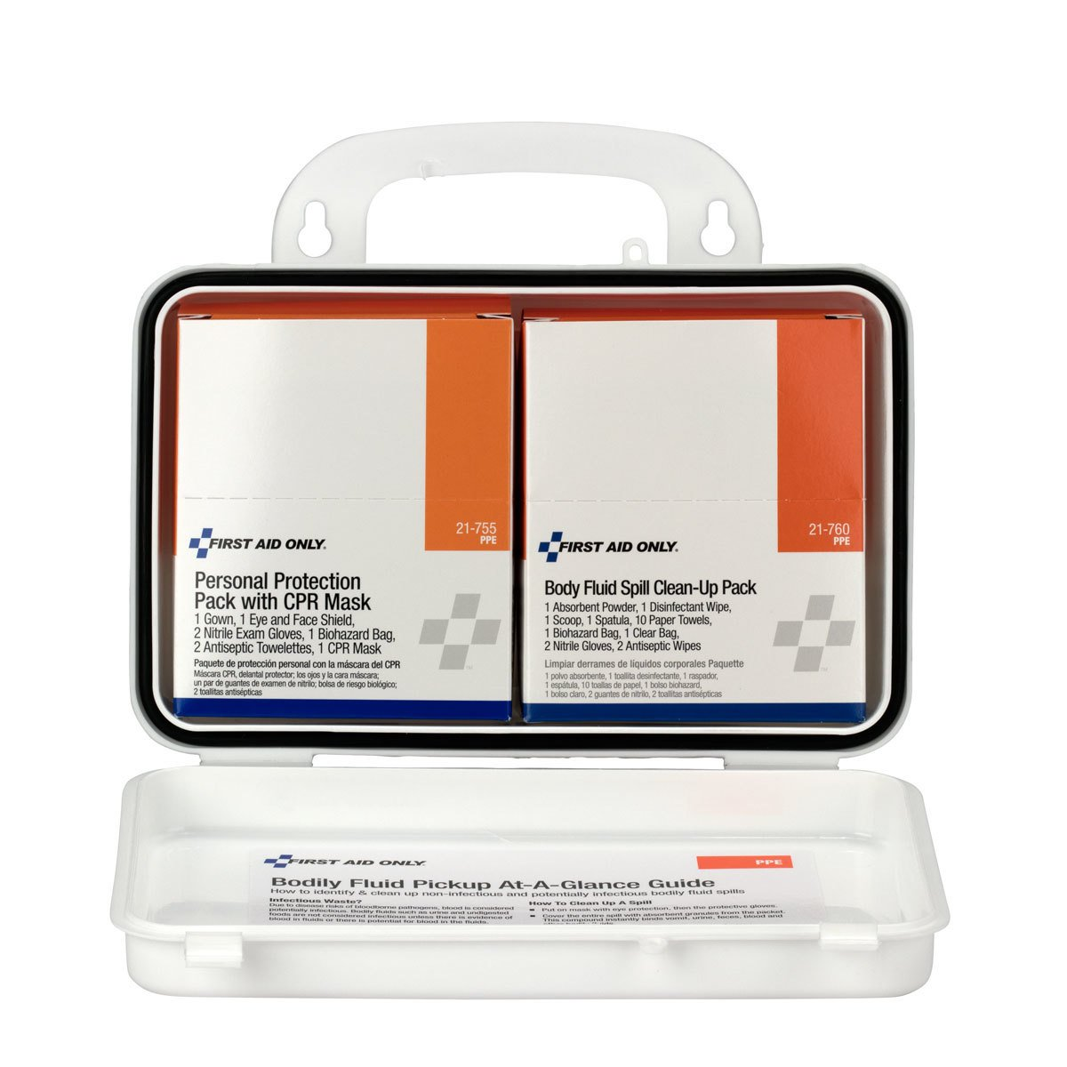 Pac-Kit by First Aid Only 3065 28 Piece Small Industrial Blood Borne Pathogens/CPR Kit in Weatherproof Plastic Case