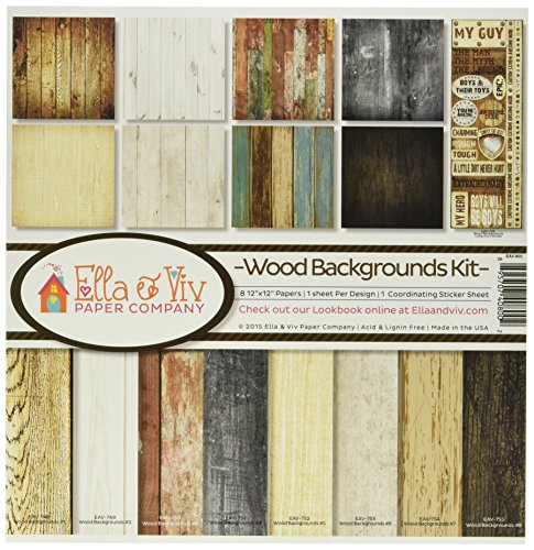 (Reminisce EAV-800 Wood Backgrounds Collection Kit )