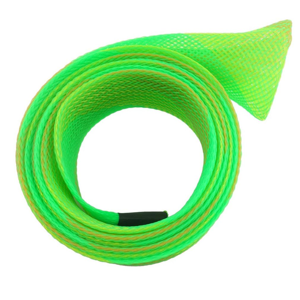 Gotd Fishing Rod Cover Rod Braided Strap Reel Cover Glove Protector (Green 03)