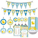 it s a boy rubber ducky baby shower balloons