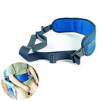 SUN RDPP Cinturón de sujeción Silla de Ruedas Correa del cinturón para el Cuidado de la Seguridad de liberación Suave de cojín, Transpirable, ...
