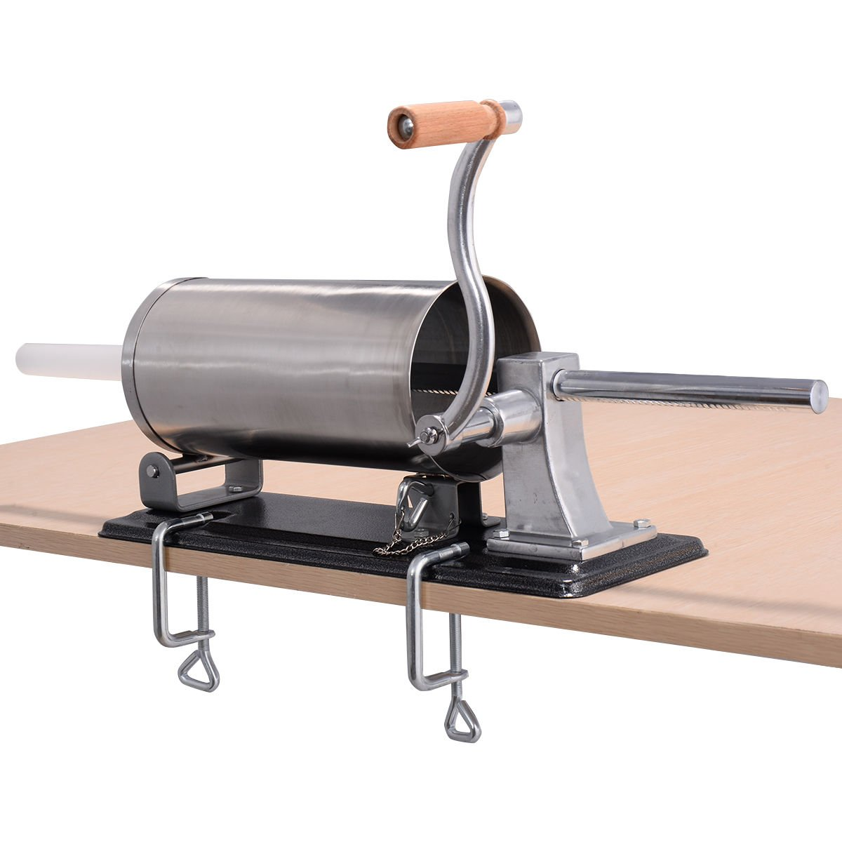 New 4.8L Sausage Stuffer Maker Meat Filler Machine Stainless Steel Commercial