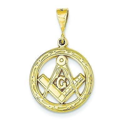 Amazon 14k gold free mason symbol charm masonic pendant jewelry 14k gold free mason symbol charm masonic pendant aloadofball Image collections
