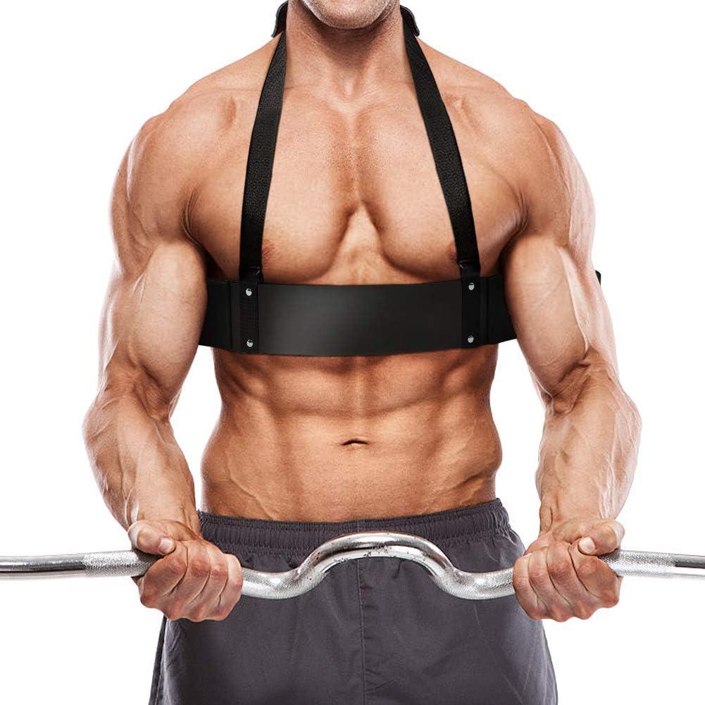 Schwarzer Hochleistungsarm Bodybuilding Curl Isolator Muskel Fitness Zubehör C