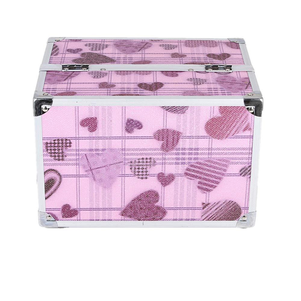 化粧オーガナイザーバッグ かわいいハートパターントラベルアクセサリーのためのポータブル化粧ケースシャンプーボディウォッシュパーソナルアイテム収納トレイ 化粧品ケース B07RVJD6PX
