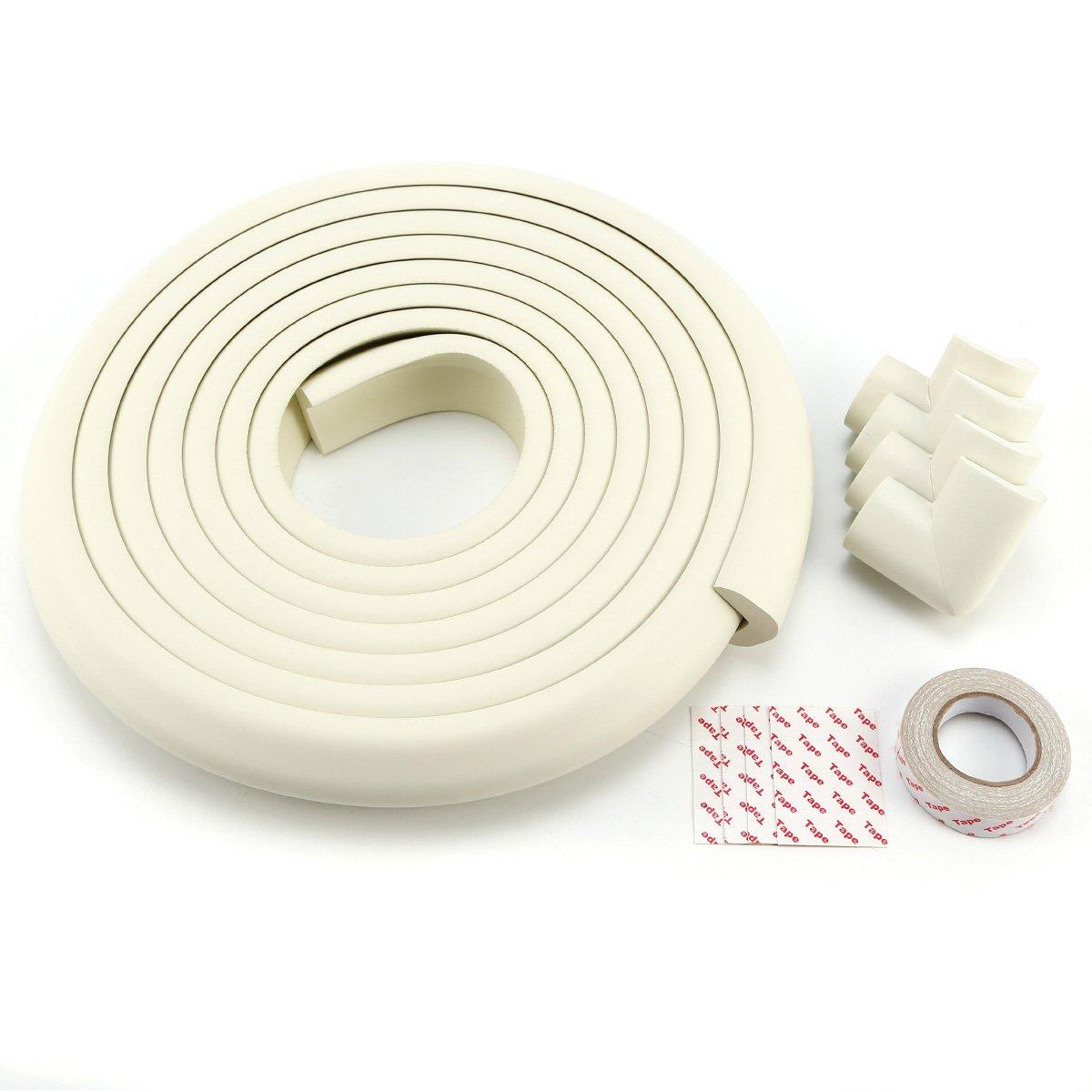 5m bande protè ge coin + 4x protecteur d' angle meuble bord protection Pare-chocs blanc Générique