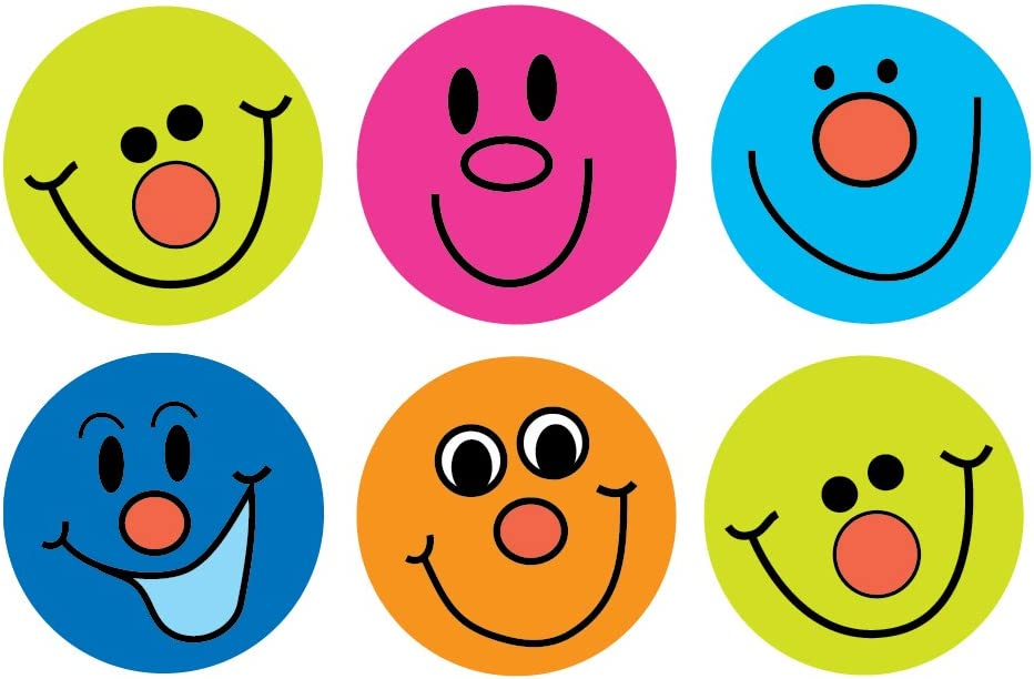 Sticker Solutions Smiley Face Stickers (Pack of 180): Amazon.co.uk ...