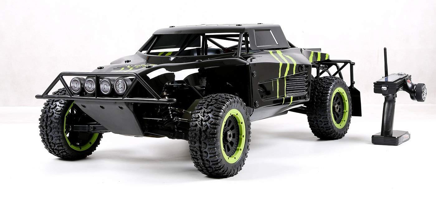 MZL Monster Truck Coche Remoto por Todo Terreno Carrera 4x4 Motor de Gasolina Fijo de Cuatro Puntos, Cuatro Tiempos, refrigerado por Aire 32cc (LxWxH: ...