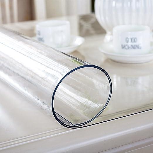 Mantel grueso de PVC transparente, protector de mesa, se limpia ...