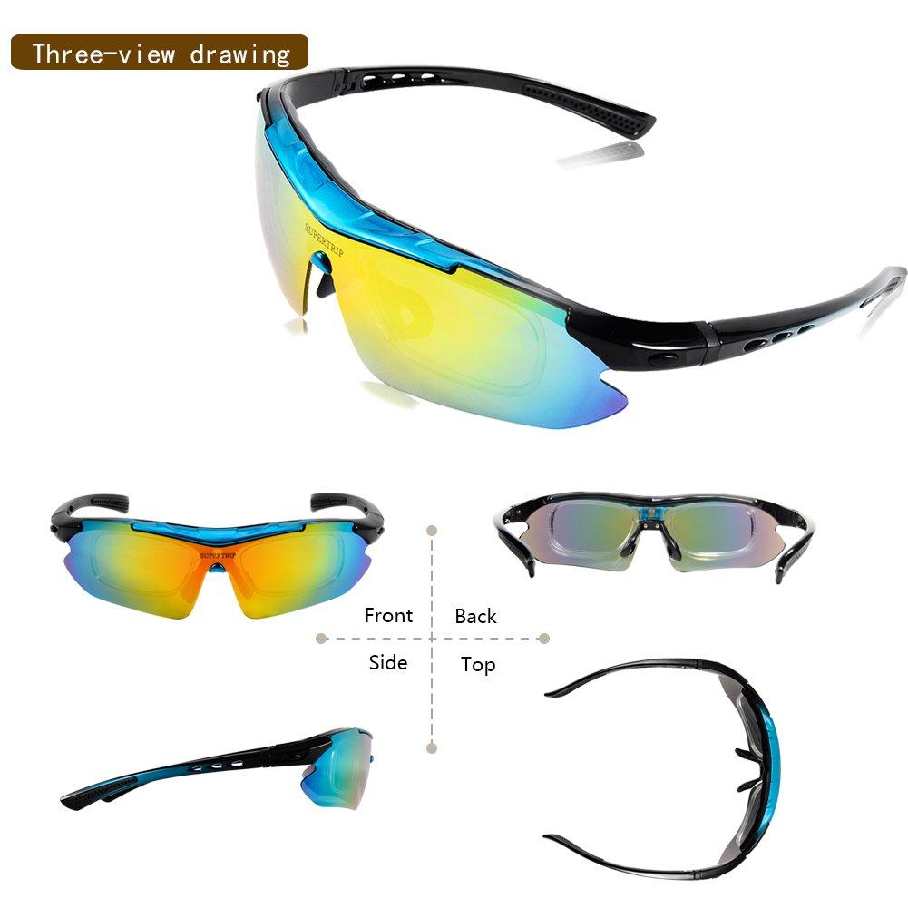 Supertrip Unisex Fahrradbrille Sportsonnenbrille Polarisierte UV400 ...