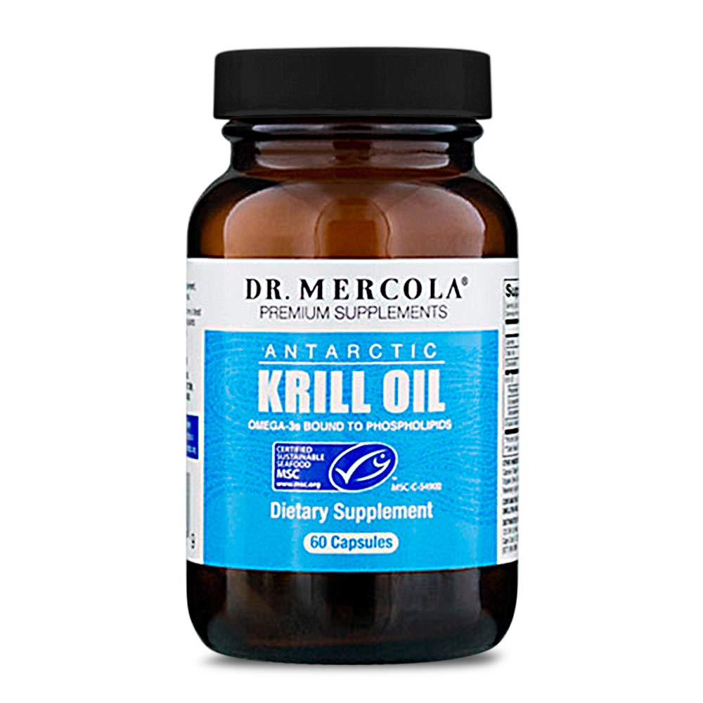 Dr. Mercola Antarctic Krill Oil, 30 Servings (60 Capsules), MSC Certified, Non GMO, Soy-Free, Gluten Free by Dr. Mercola