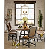 Ink+Ivy Lancaster Standard Dining Bench - Solid Wood, Metal Base Seating Bench - Amber Wood, Industrial Rustic Style Bench - 1 Piece Metal Frame Wooden Top Seating Bench for Dining Room