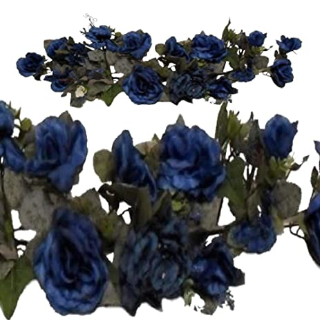 Amazon artificial flowers for decoration victorian floral swag artificial flowers for decoration victorian floral swag blue silk flowers rose hydrangea 28quot artificial mightylinksfo