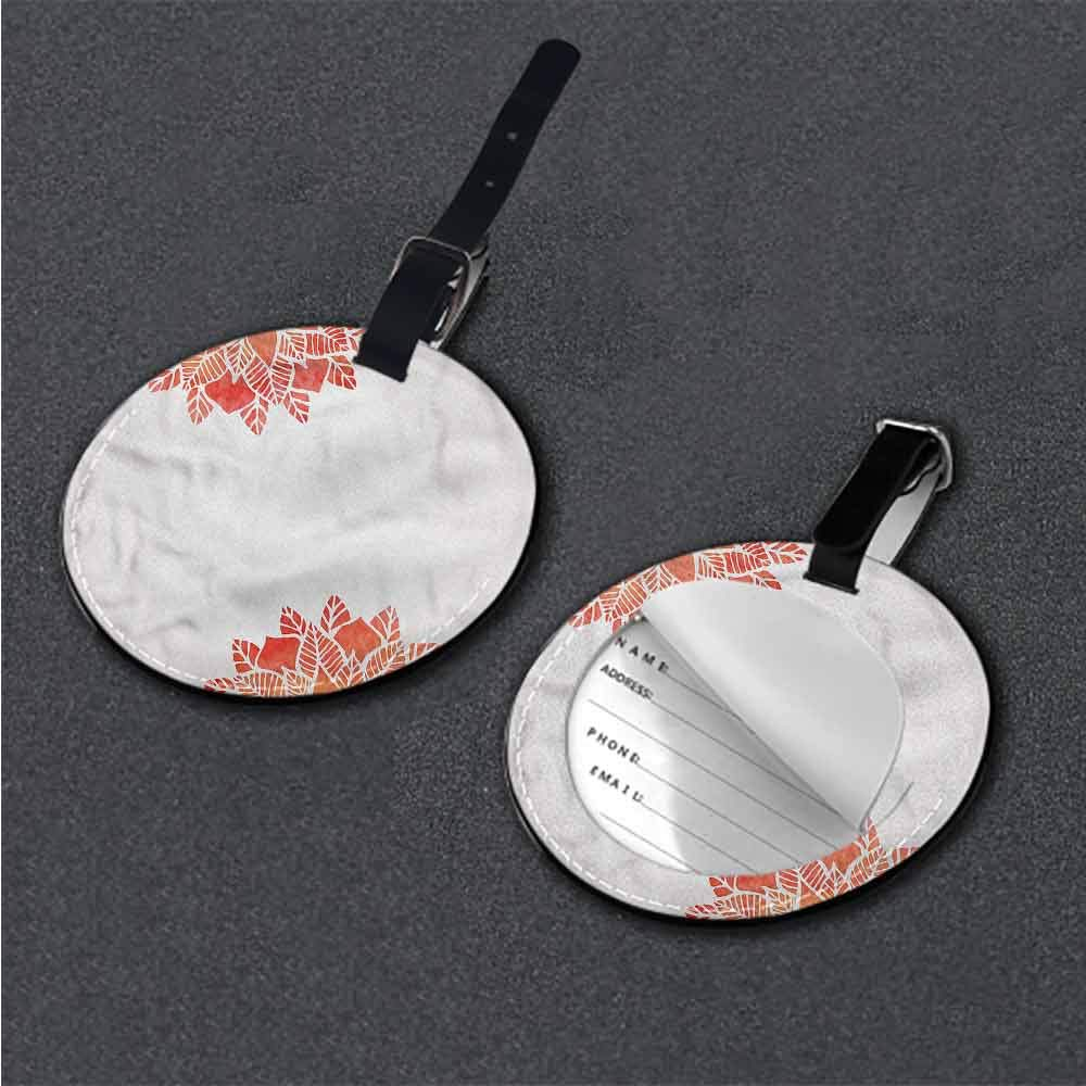 Fashion Address tag Floral,Watercolor Style Mountain Name Tags