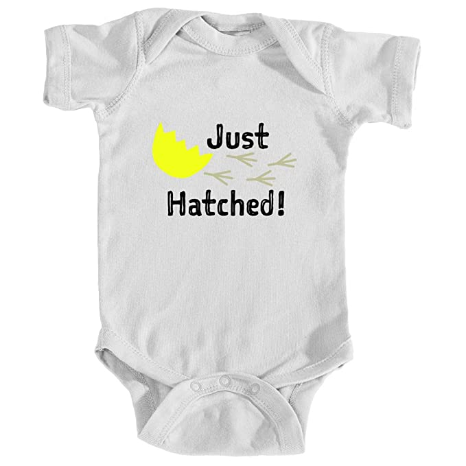 Promini Cute Baby Onesie Funny Bodysuits Baby Romper Hatched by Two Chicks