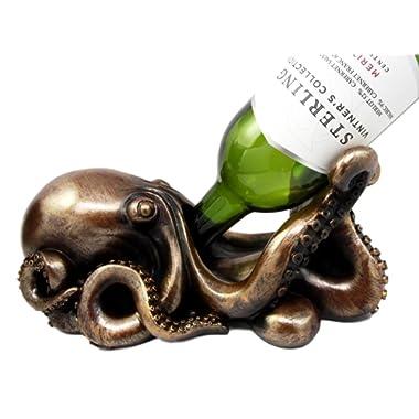 Ebros Gift Nautical Coastal Sea Octopus Wine Bottle Holder Caddy The Call Of Cthulhu Kraken Figurine 10  Long Ocean Sea Life Home Decor Statue Storage Organizer