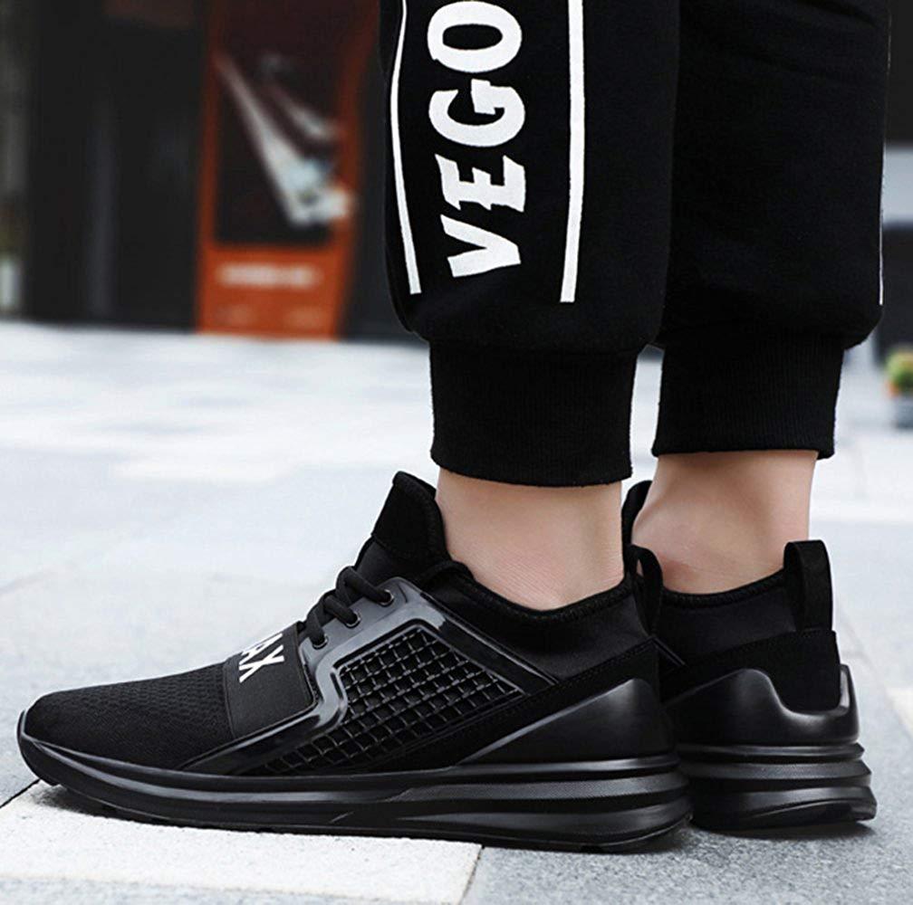 FuweiEncore Laufende Schuhe Der Der Der Männer Beiläufige Turnschuhe Breathable Wandernde Mode (Farbe   Schwarz, Größe   43EU) e88c24