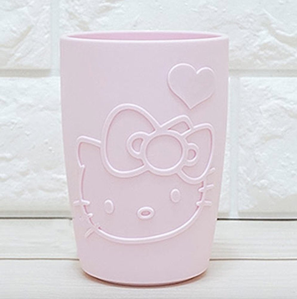Hello Kitty Mouth Bathroom Tumbler Cup for Mouthwash Rinsing Pink 320 ml