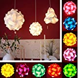 Bargain World 30Pcs 30cm IQ Jigsaw Puzzle Lamp Puzzle Lampshade Ceiling DIY Lamp Cover Kid Handcraft Home Light