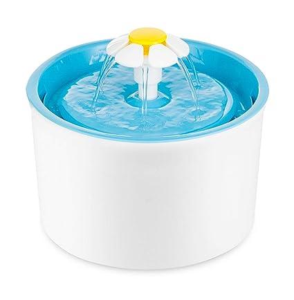 Toyonee Fuente del Animal doméstico Dispensador de Agua eléctrico automático Flower Bowl Agua del Animal doméstico