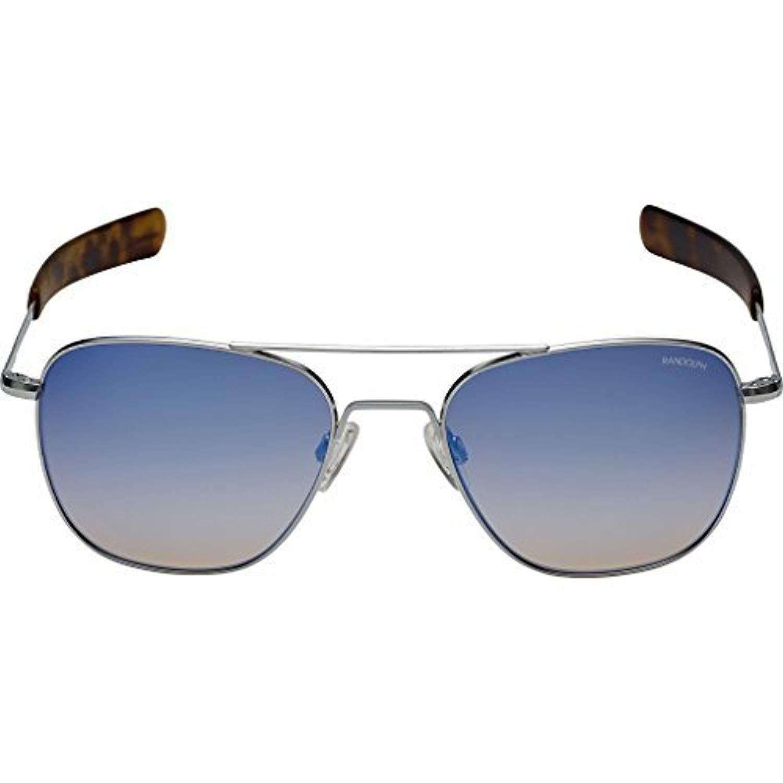 624c2415bc Amazon.com  Randolph Aviator Infinity Sunglasses Bright  Chrome Bayonet Citron 55mm  Clothing