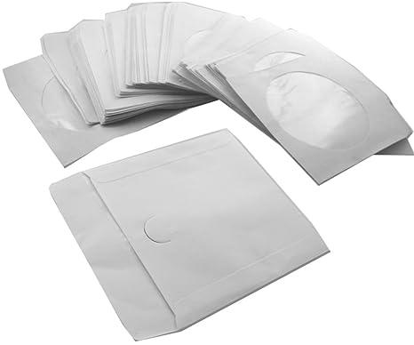 Häufig 1000 x CD DVD Papier Hüllen Papierhüllen mit: Amazon.de: Computer RB44