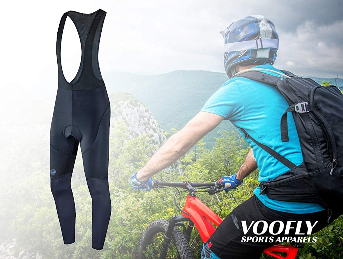 voofly Cycling Bib Pants for Men Gel Padded Compression Bike Riding Leggings Stretch Bicycle Tights: Clothing