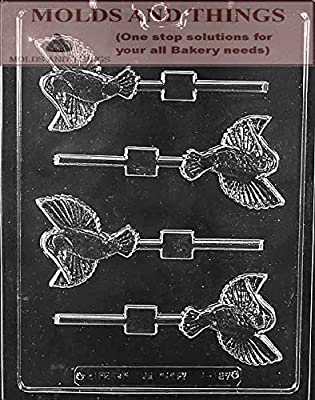 HUMMINGBIRD LOLLY Animal Chocolate Candy Mold With Copywrited Candy Making Instruction
