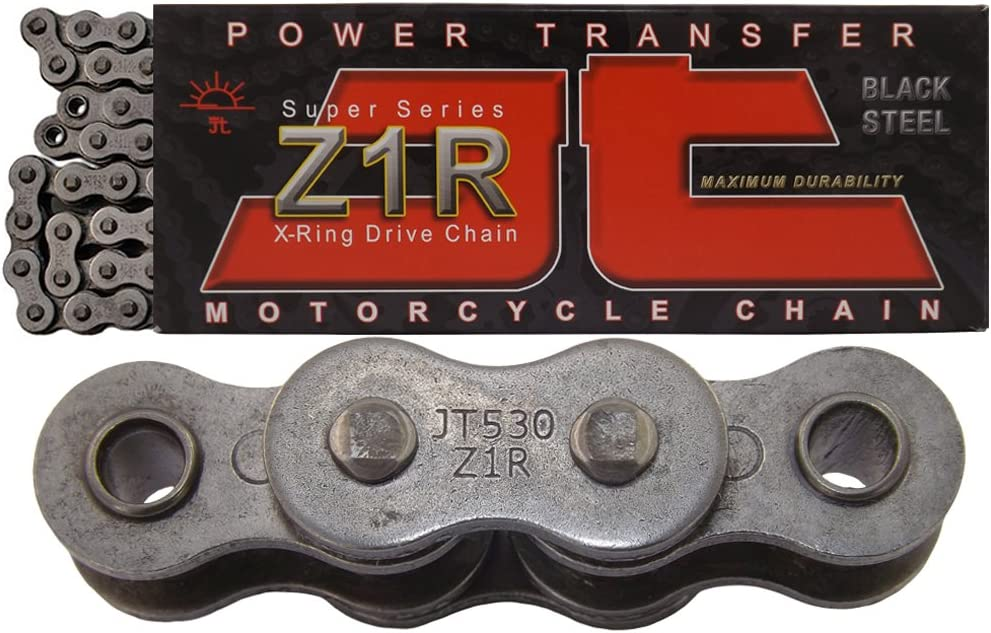 JT Sprockets JTC530Z1R110RL Steel 530 Z1R 110-Link Super Heavy Duty X-Ring Drive Chain