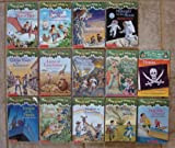 img - for Magic Tree House Set of 14 Books (#1, 4, 7-8, 10-11, 13-14, 17, 19, 20, 23, 28, Pirates Research Guide) (Dinosaurs Before Dark/Pirates Past Noon/Sunset Sabertooth/Midnight Moon/Ghost Town at Sundown/Lions at Lunchtime/Vacation Under the Volcano/Day Dragon King/Tonight on the Titanic/Tigers at Twilight/Dingoes Dinnertime/Twister Tuesday/High Tide Hawaii) book / textbook / text book