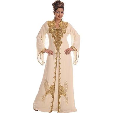 878a6554f77a4 Amazon.com: MaximCreation Women's Georgette Kaftan Farasha: Clothing