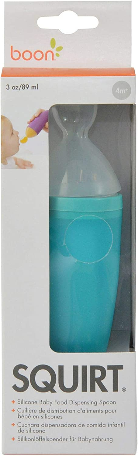 Boon Squirt Silicone Baby Food Dispensing Spoon, Blue 1 ea