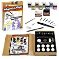 Art Drawing Set- 24 Pc Manga Animation and Comic Tool Set with Ink, Watercolors, Knives, Pen and Nibs, Eraser, and Pencils