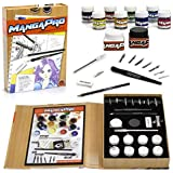 Art Drawing Set- 24 Pc - Manga Animation and Comic Tool Set with Ink, Watercolors, Knives, Pen, Nibs, Eraser, and Pencils