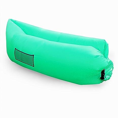 Fast hinchable Hangout aire saco de dormir cama para Camping Playa ...