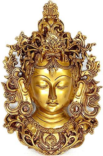 Wall Hanging Tara Mask - Brass Sculpture