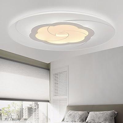 LoveScc Ledthe créatif Chambre Enfants moderne et un mobilier minimaliste Lustre lampes chaudes circulaire ultra plate et d'éclairage lumière blanche 50cm