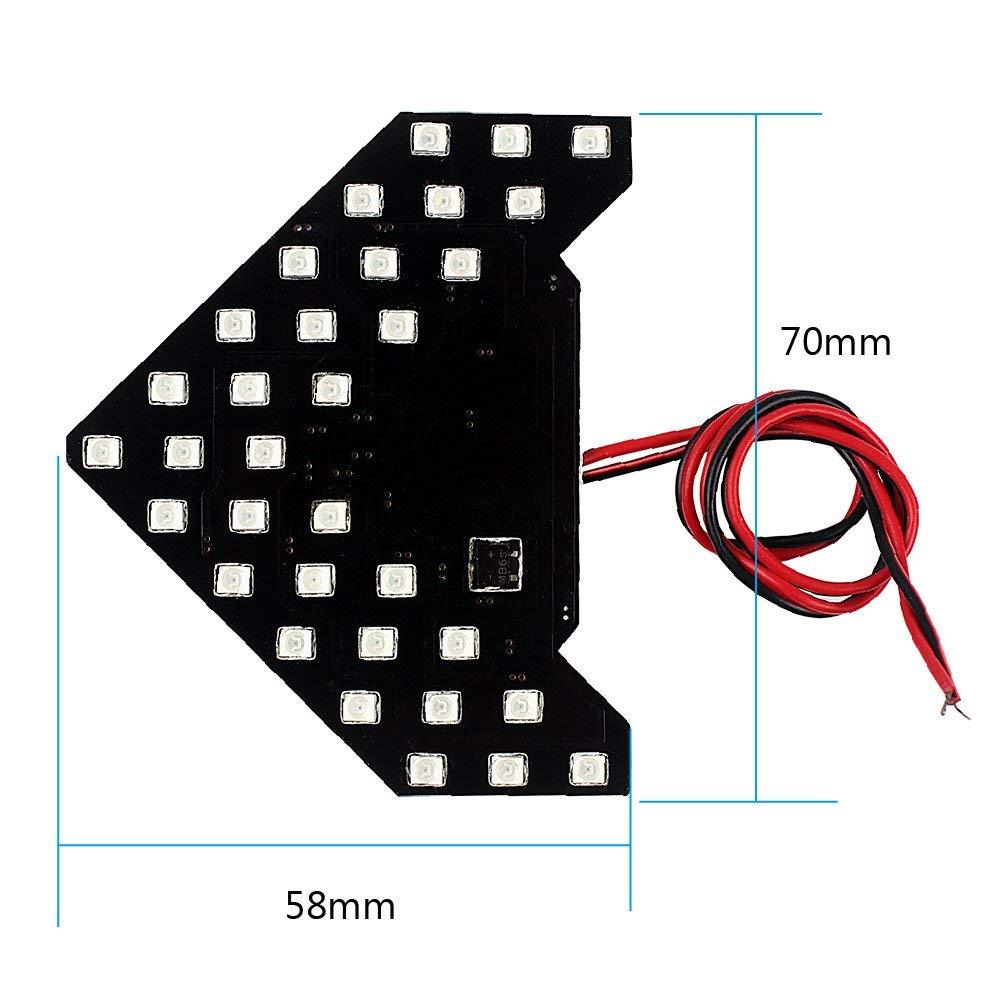 Itimo 2PCS auto specchietto laterale accensione luce di segnale lampada a forma di freccia 33/SMD auto LED indicatori di direzione LED pannello lampada car-styling