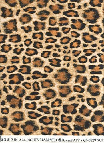 Amber Leopard (Kenya Michael Miller Fabric ~ Amber Leopard Skin Print FLANNEL Fabric ~ HALF YARD ~ Patt: #CF6923 ~ Spotted Leopard Skin Animal Skin Quilt Fabric 100% Cotton 45