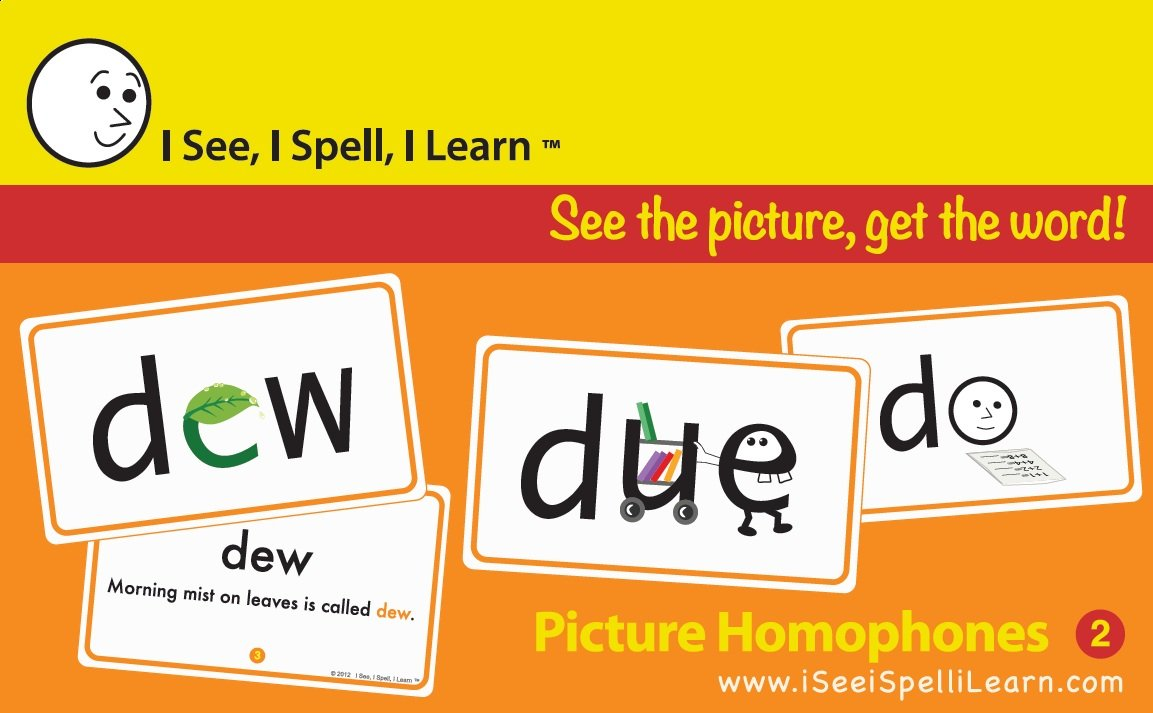 I See, I Spell, I Learn® Super Combo Picture Sight Words & Picture Homophones Flashcards by I See, I Spell, I Learn®