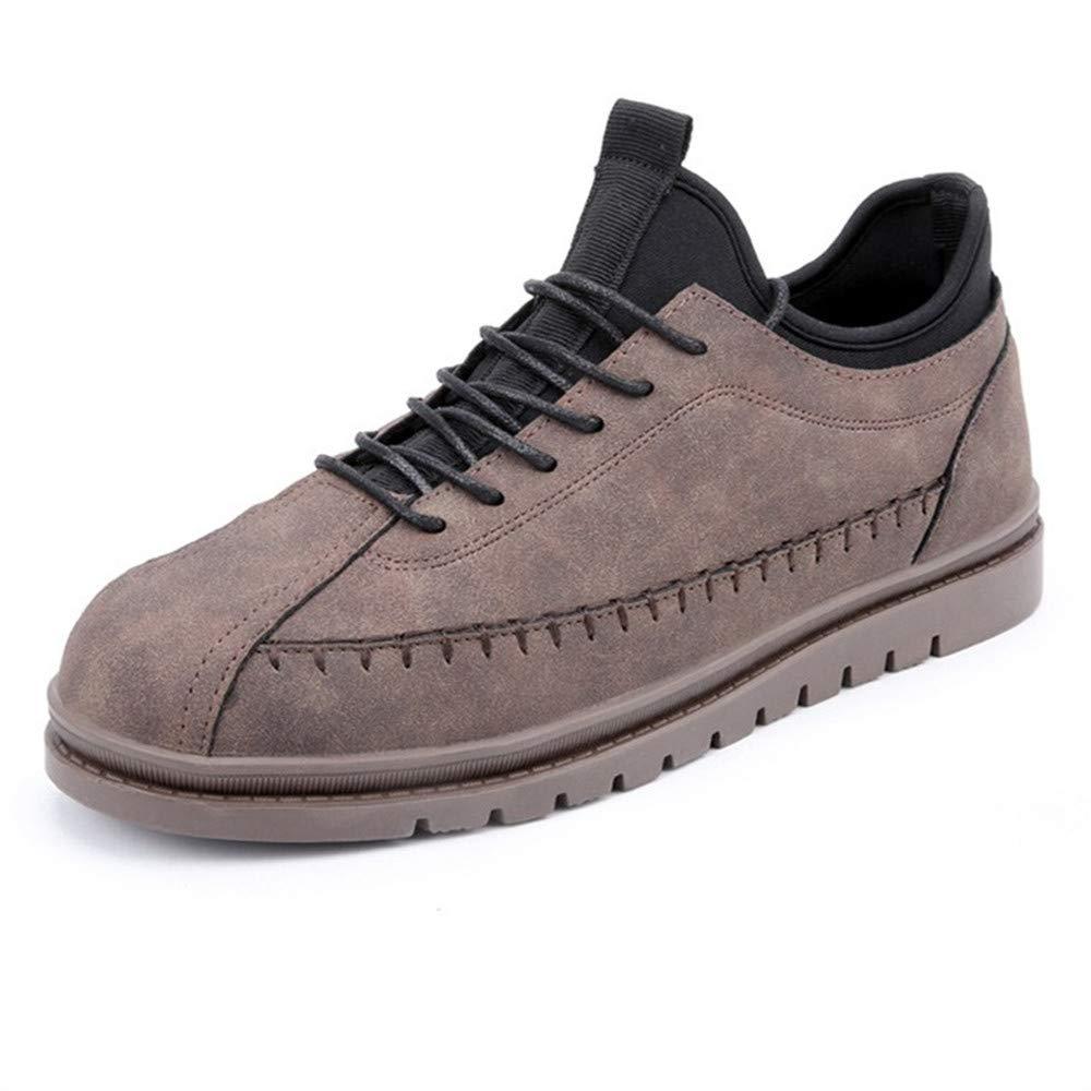 schuheDQ Lässige Herrenschuhe PU braun Vier Jahreszeiten können Board Schuhe tragen Freizeit